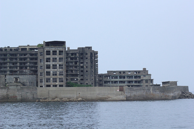 View of Hashima Island around