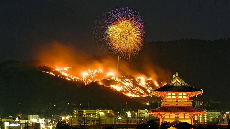 Nara Wakakusayama Yamayaki Festival