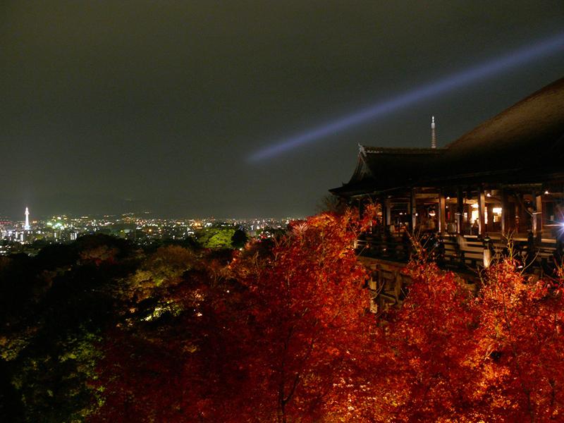 Kiyomizu-dera at night