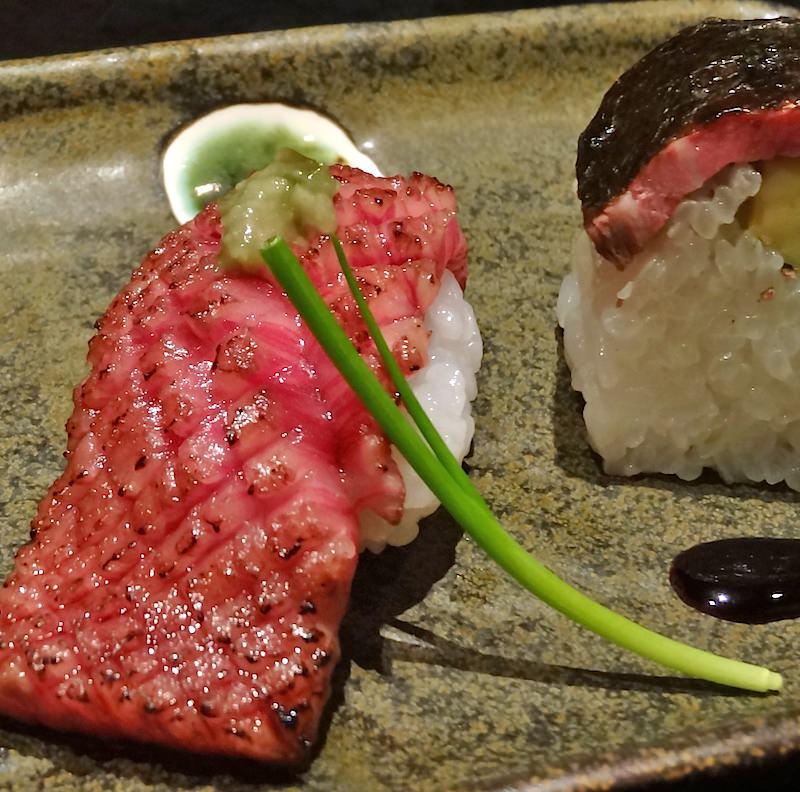 Wagyu sushi. From Wikipedia