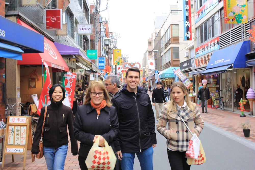 Walking along Jizo Dori Shopping Street.