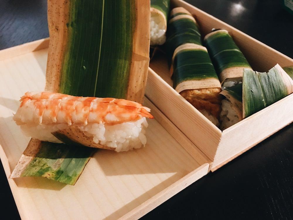 Sasamaki Kenuki Sushi - shrimp