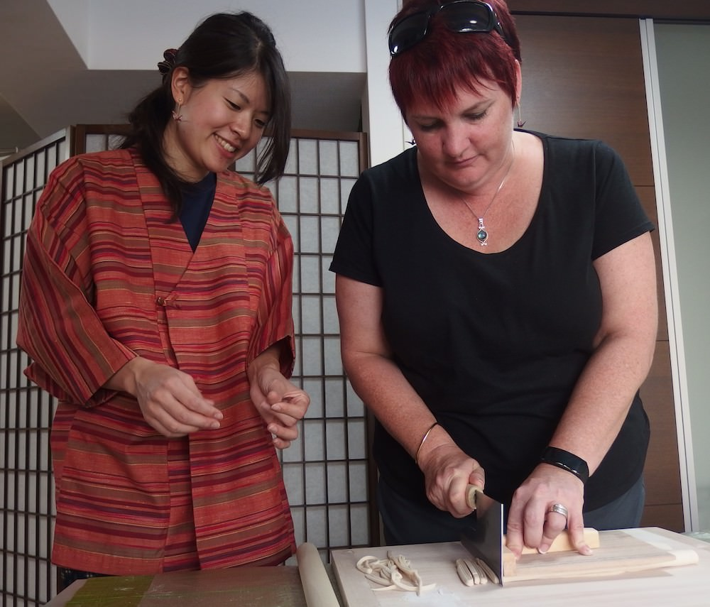 Experience Udon noodles cooking class!
