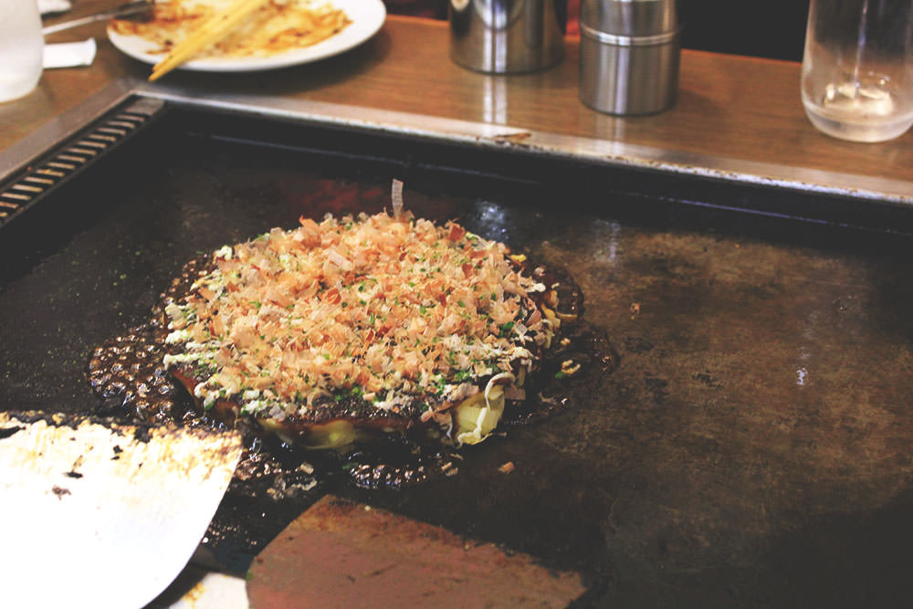 Okonomiyaki ready to eat!