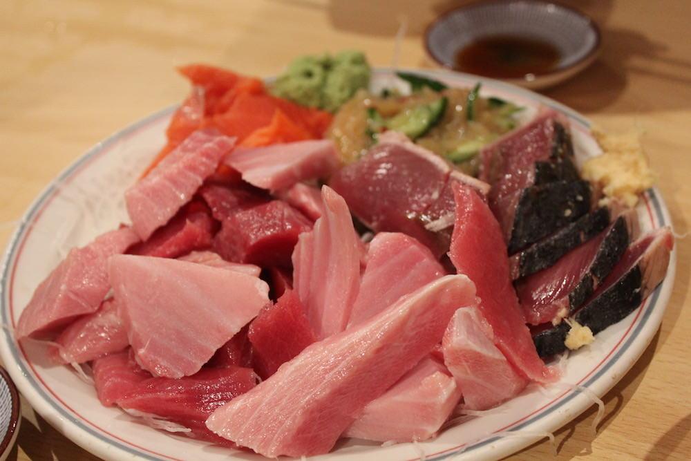 Sashimi platter, fish look fresh, aren't they?
