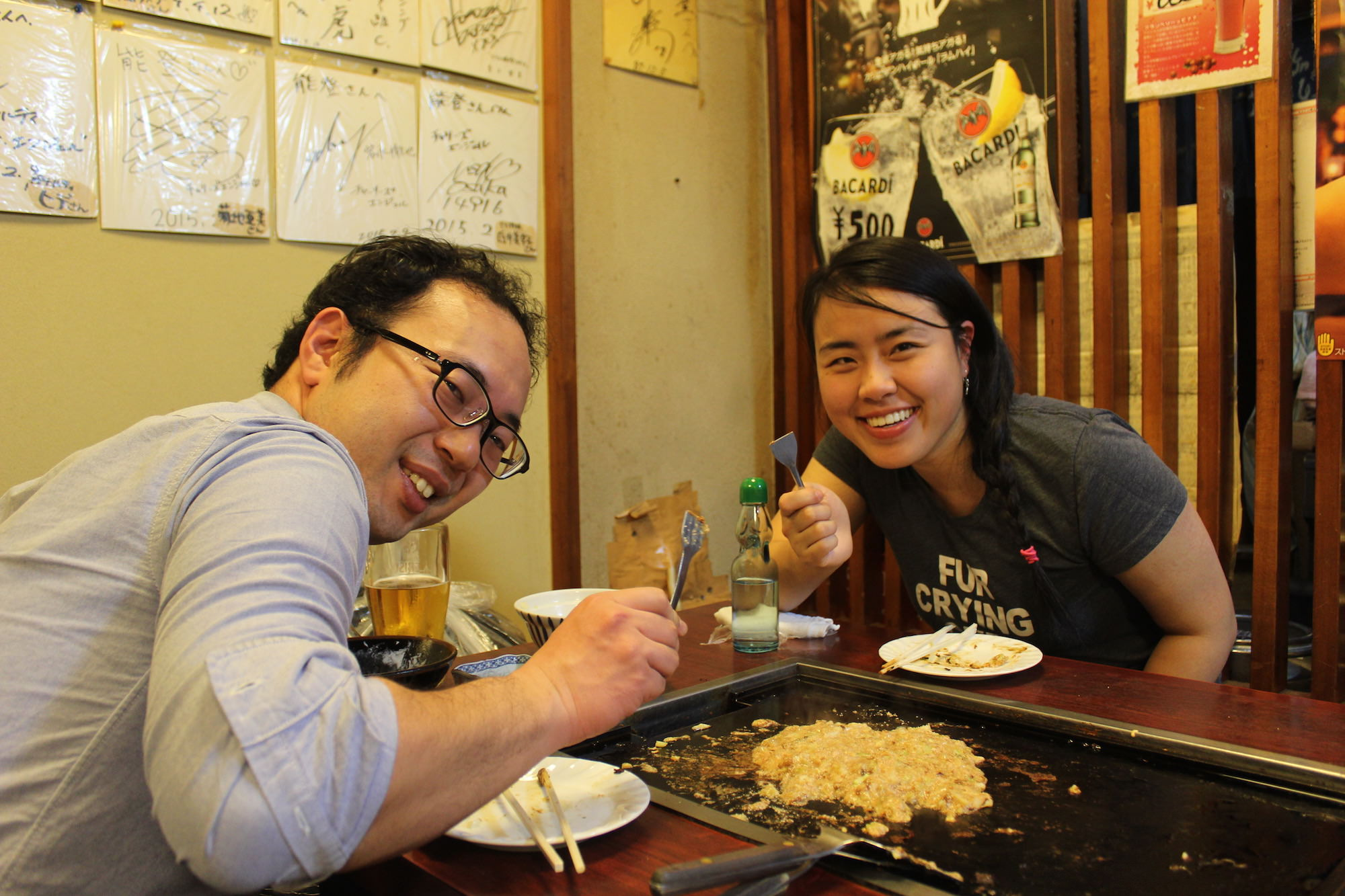 Okonomiyaki and Monjayaki with Arianna from Canada
