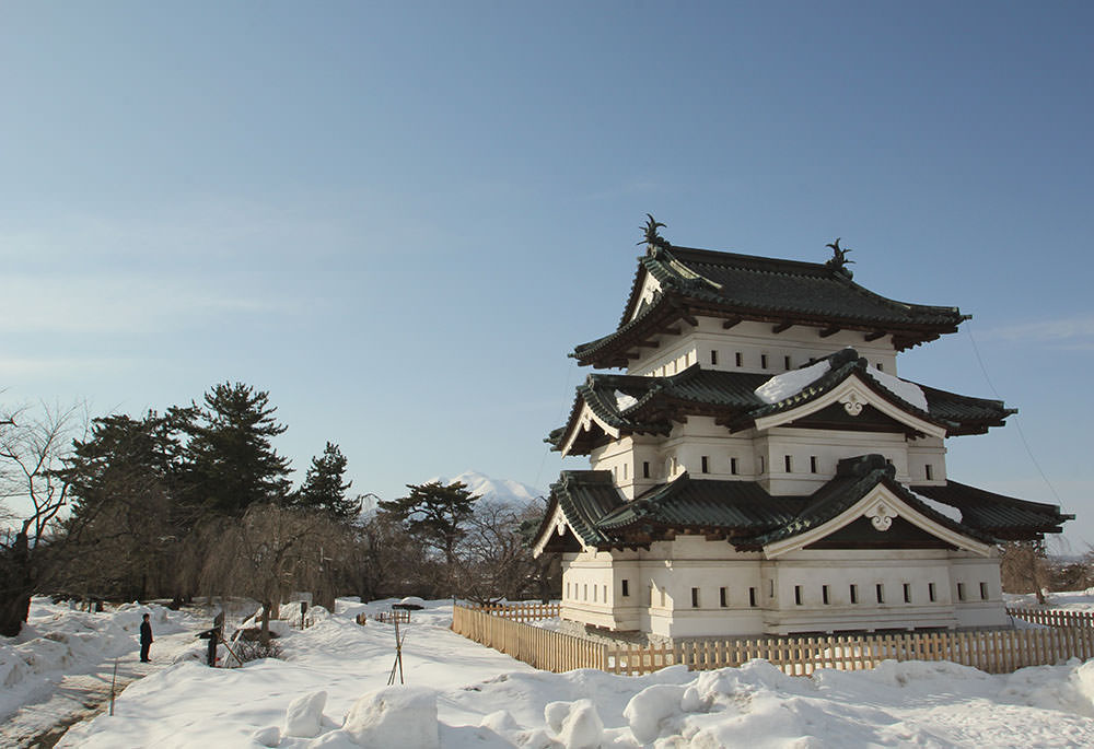 The current donjon of Hirosaki Castle