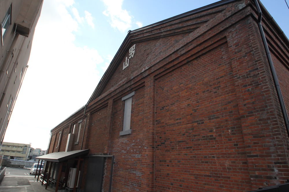 The redbrick warehouse is where they make and store sake
