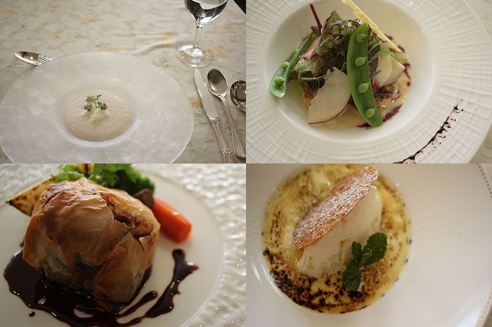 "The ""Apple Lunch Course"" dishes at CHEZ-MOI"