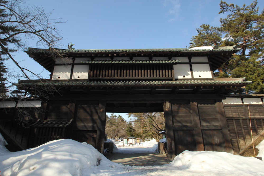 The gate of Hirosaki Castle