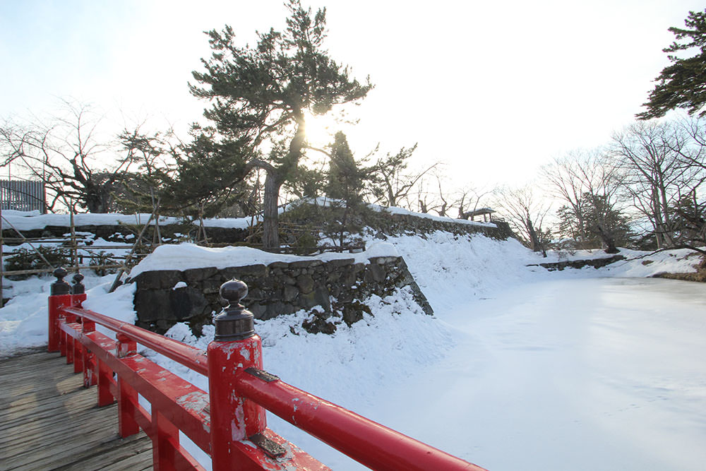 The stone wall of Hirosaki Castle