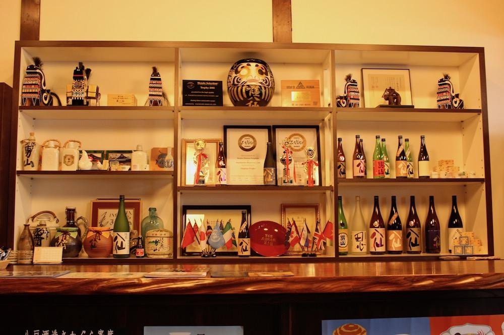 Tasting room looks like a bar counter.
