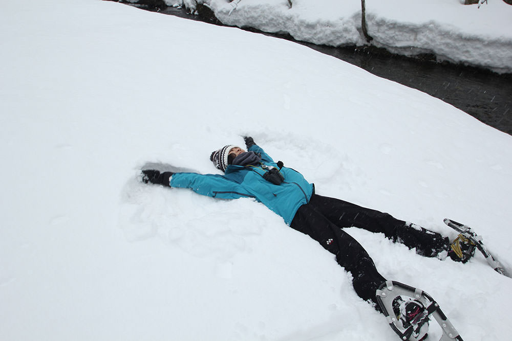 "The guide taught us how to make ""snow angel""!"