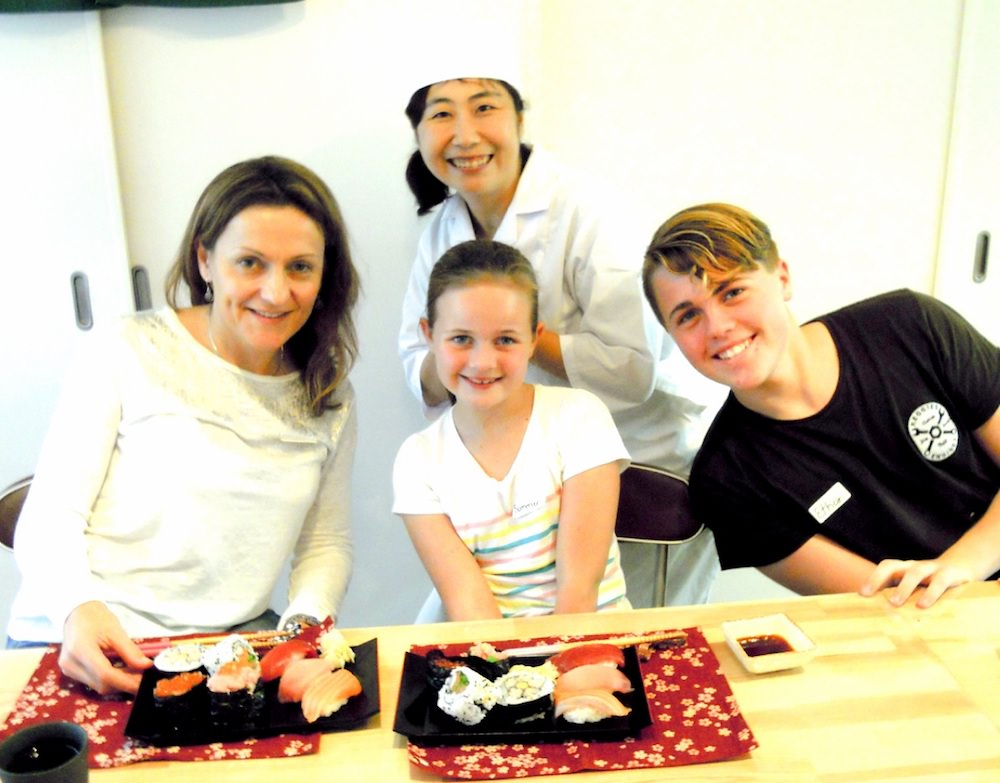 Tokyo Sushi-Making Tour's sushi class is held at the teacher's private house.