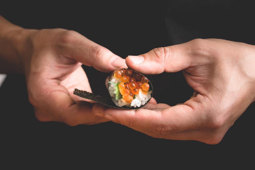 Gonpachi NORI-TEMAKI's salmon roe sushi