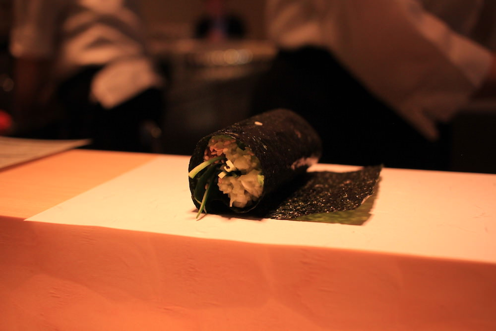 Gonpachi NORI-TEMAKI's sushi with cauliflower rice