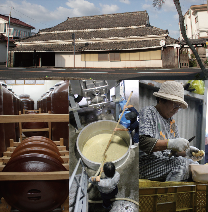 The building of Nakamata Shuzo with a long history and their process of making Shochu.