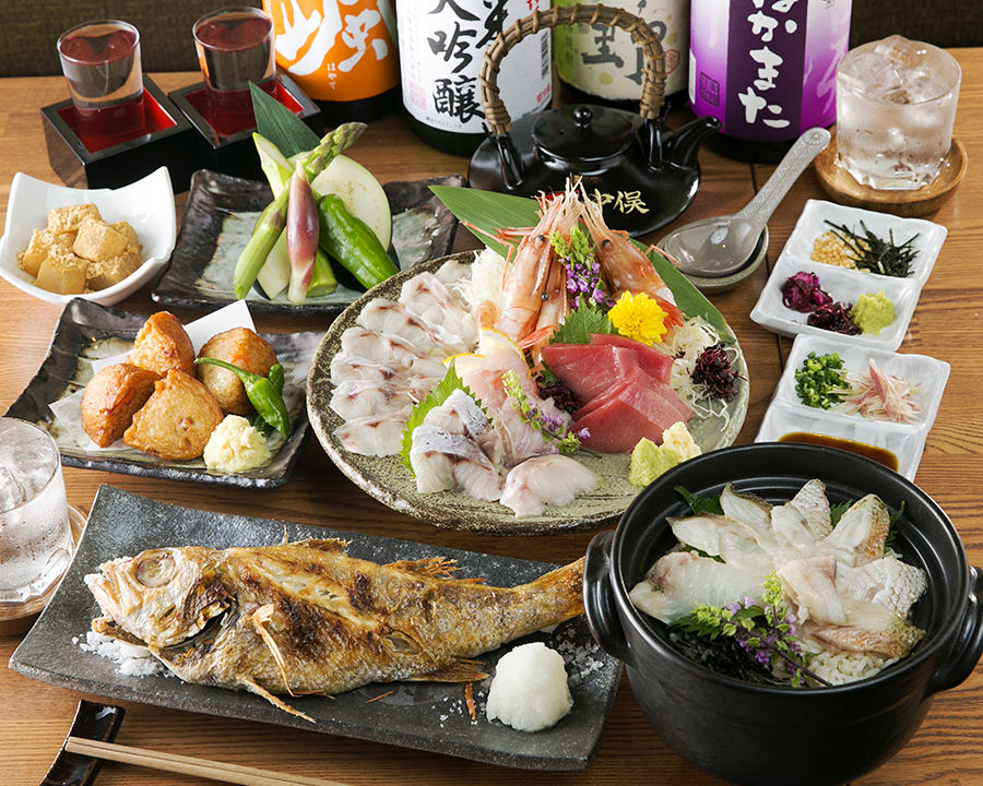 Various dishes made with Nodoguro