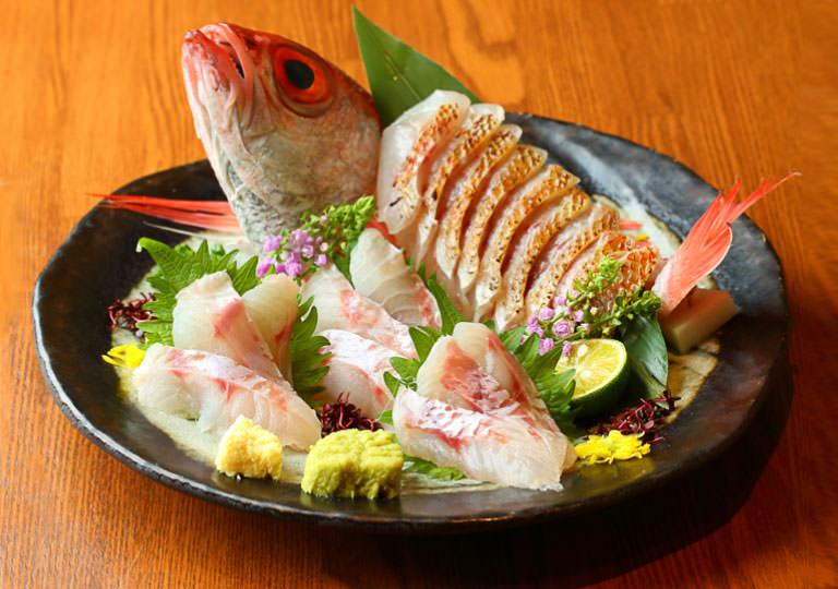 Nodoguro sashimi