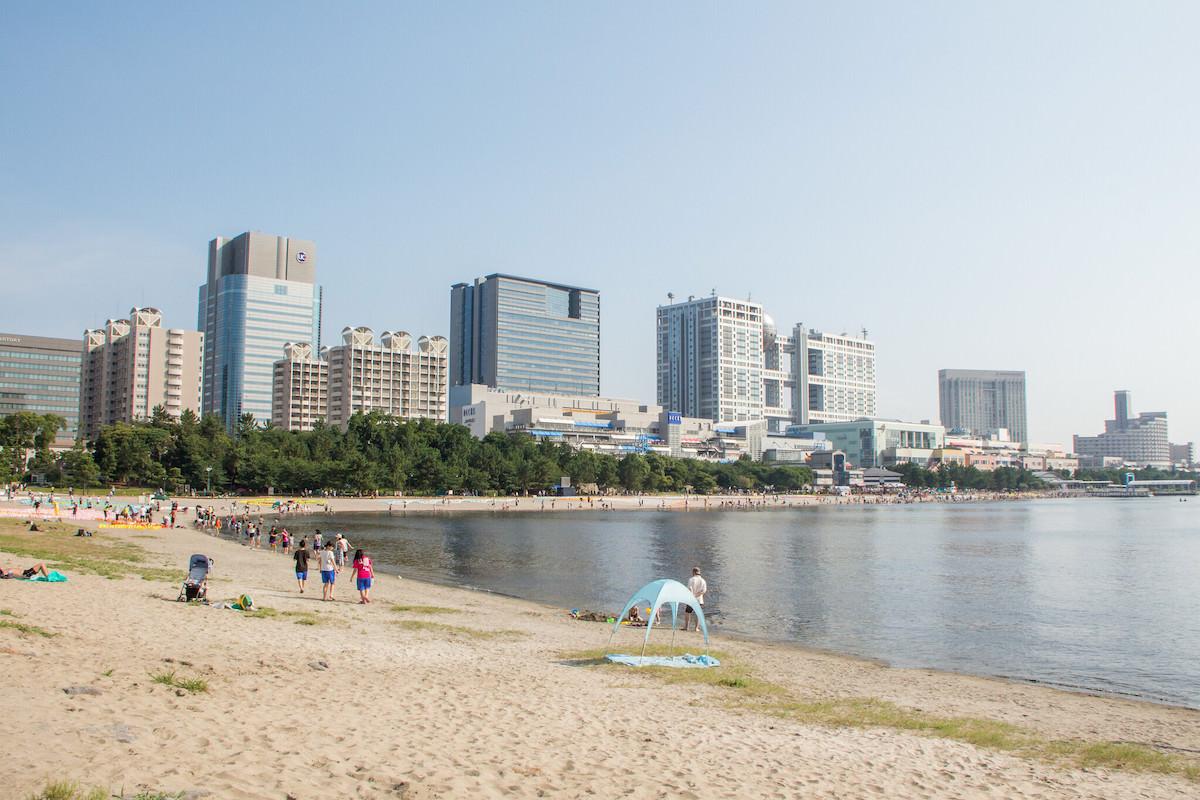 Odaiba Beach in Tokyo