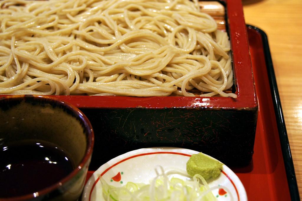 Zaru soba (cold soba) noodles