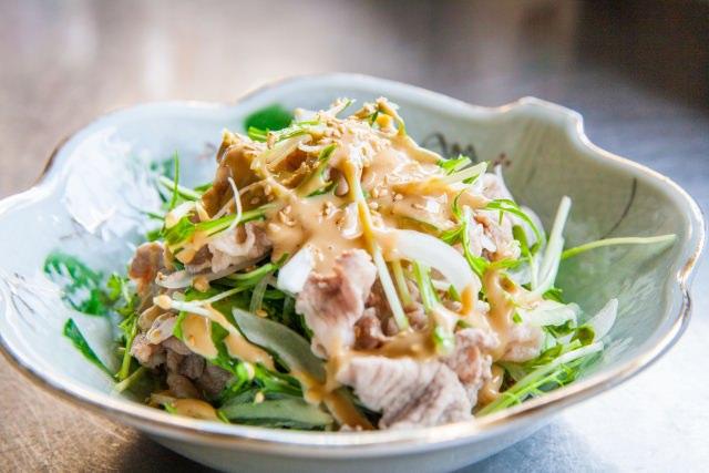 Cold shabu-shabu salad