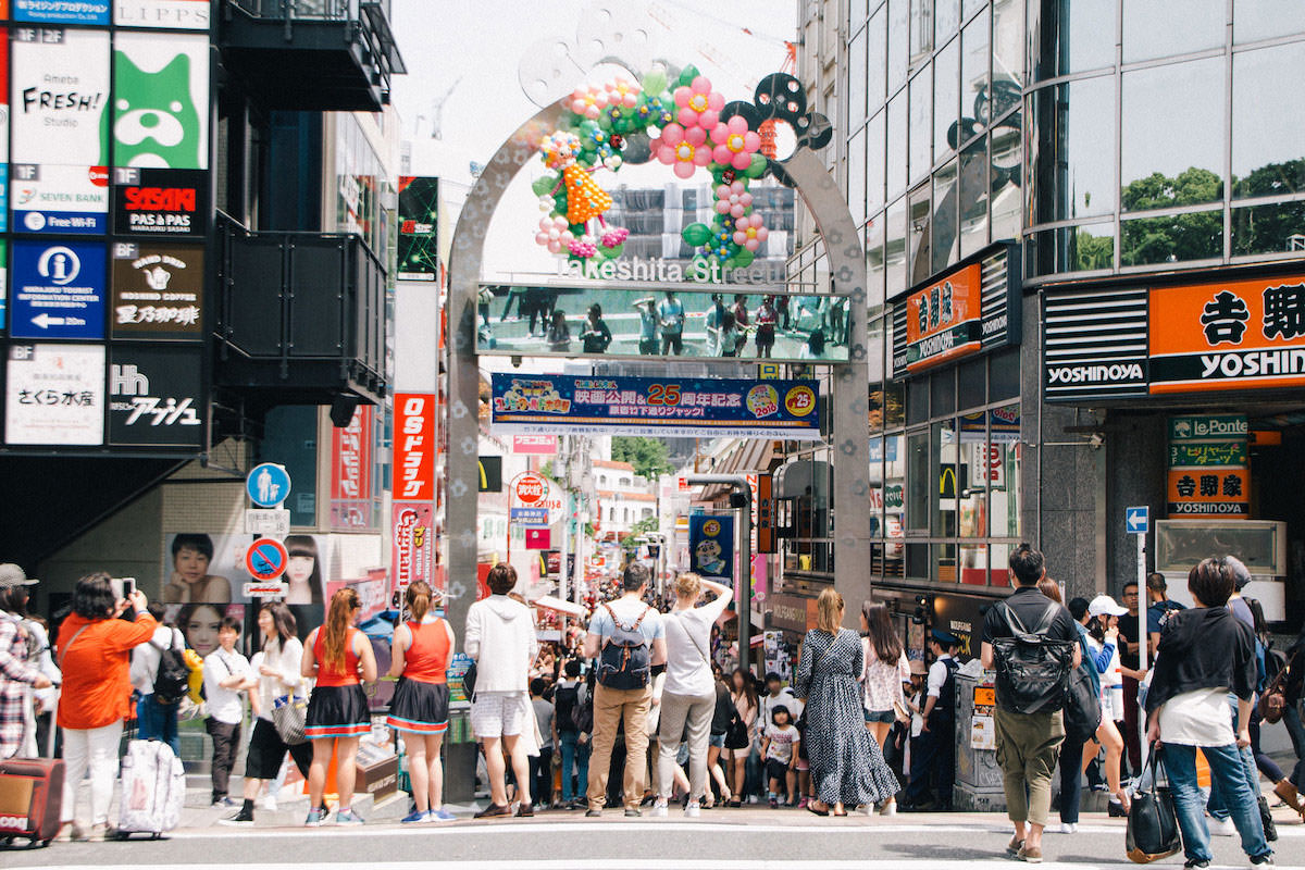 Takeshita Street in Harajuku is filled with people every day