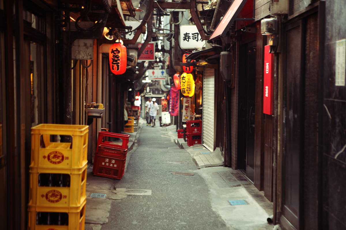 There are many hidden alleys in Tokyo
